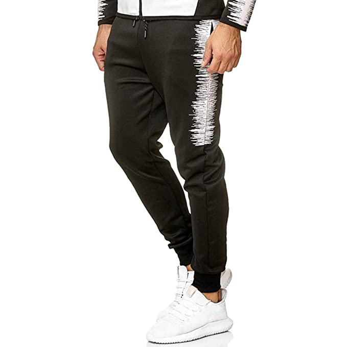 beautyjourney Pantalones Deportivos Casuales para Hombres ...