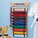 Personalized Karate Belt Display (10 Belts)