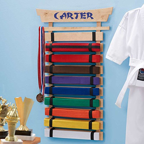Personalized Karate Belt Display (10 Belts)