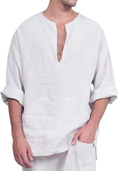 Mucha Hombre Camiseta De De Algodón Modernas Camisa Casual ...