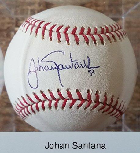Johan Santana Signed Autographed Official Major League (OML) Baseball - COA Matching - Santana Mall