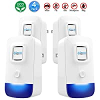 Ultrasonic Pest Repeller Upgraded | Electronic Plug In Pest Control Indoor/Outdoor Use