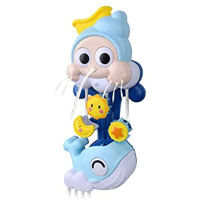 Jiashi Children's Bath Toys Non-Electric Water Spray Rotating Whale Baby Bath Toys: Home & Kitchen