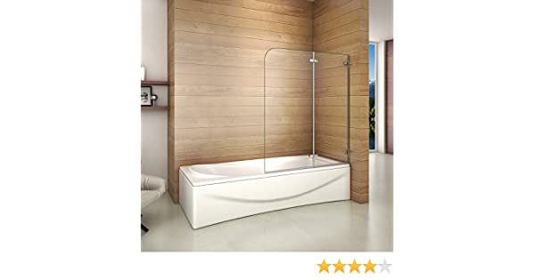 Biombo de Bañera Abatible, Mampara Panel Bañera 110x140cm: Amazon ...