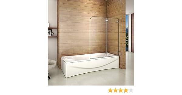 Biombo de Bañera Abatible, Mampara Panel Bañera 120x140cm: Amazon ...
