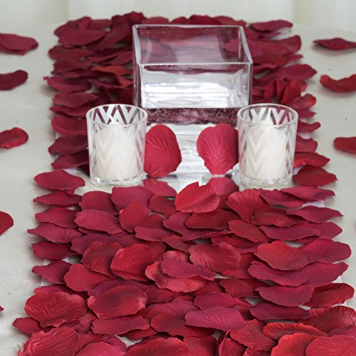 BalsaCircle 2000 Burgundy Silk Artificial Rose Petals Wedding Ceremony Flower Scatter Tables Decorations Bulk Supplies Wholesale