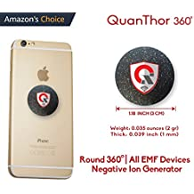 360 Round EMF Protection Tesla Technology: EMF Absorption From CELL PHONE, WiFi, Laptop-All EMF Devices|Negative Ion Generator| International AWARDS|Anti Radiation Shield, EMR Blocker Device 1.18 INCH