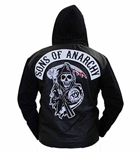 SOA Son of Anarchy Leather Hooded Jacket