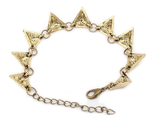 Vintage bracelet avec pendentifs en forme de triangle   Br en optique d or  de DesiDo®  Amazon.fr  Bijoux 682c12036a8d