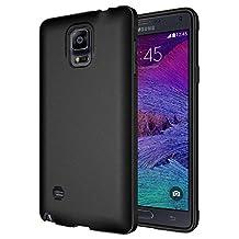 Diztronic Full Matte Flexible TPU Case for Samsung Galaxy Note 4, Retail Packaging, Full Matte Black