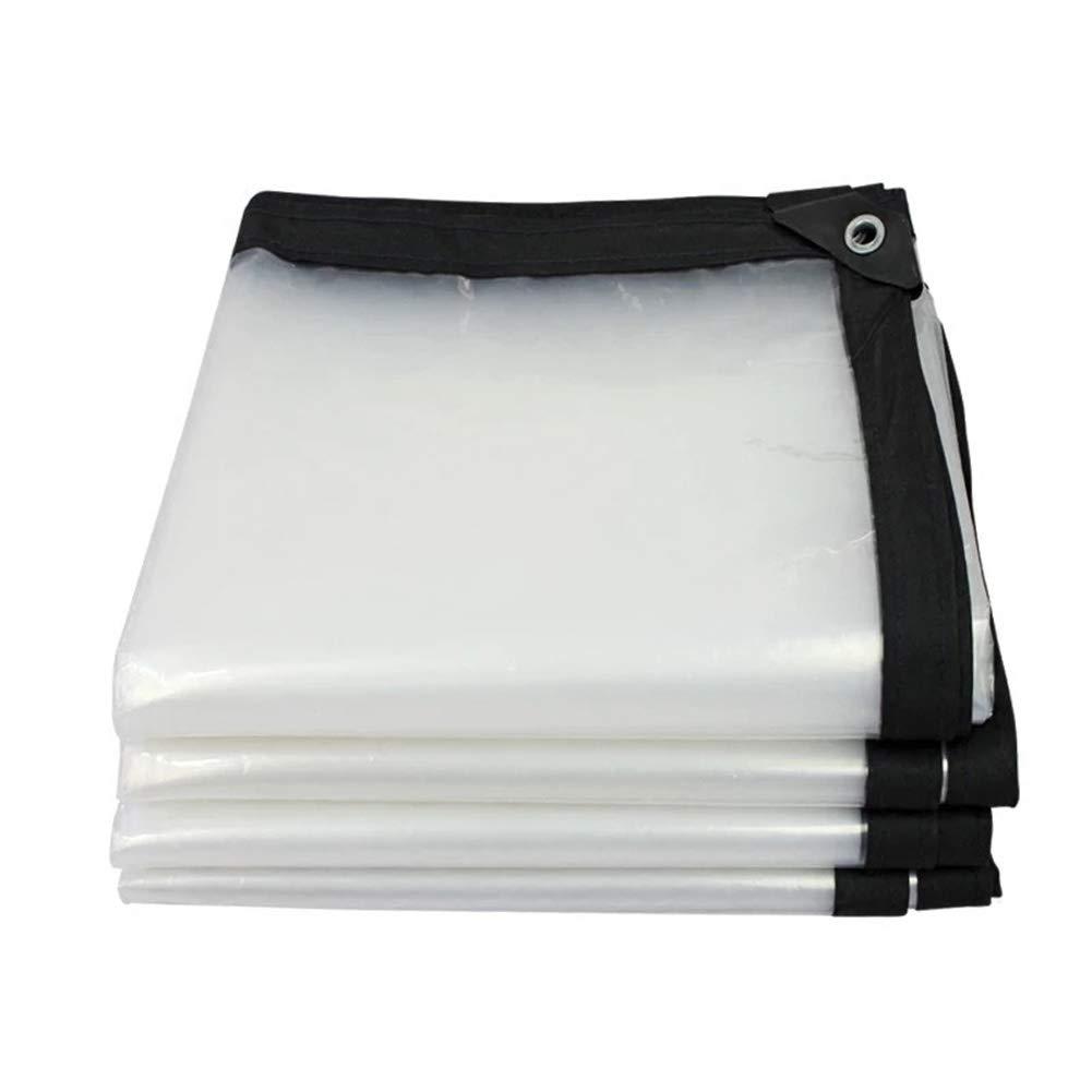 SXY888 Auvent d'épaississement en Plastique Transparent d'isolation imperméable Transparente de Tente de bÂche, Taille Personnalisable CLEAR 4.8MX7.8M