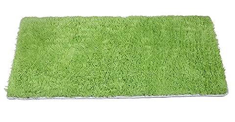 YOFAN 2.6-Feet By 3.9-Feet Modern Shag Area Rug,Super Soft Living Room/Bedroom/Kitchen Carpet,4Cm Wool Length (Green 2.6-Feet By 3.9-Feet) (Blue And Green Bedroom Rugs)
