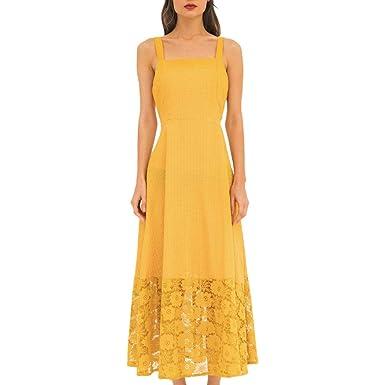 🌻MINXINWY_Vestidos de Fiesta Mujer largas, Vestidos de Verano ...