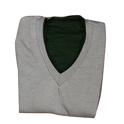 Vbirds Men's Reversible Sleeveless Sweater (Grey-Green) (Only 1)
