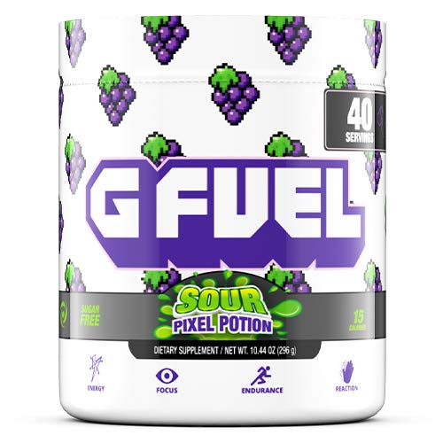 G Fuel Sour Pixel Potion (40 Servings) Elite Energy and Endurance Formula 10.44 oz. Inspired by Our Love for Twitch