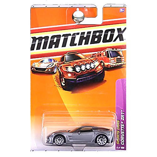 Matchbox 2010 Sports Cars Chevy Chevrolet Corvette ZR1 Silver Charcoal Grey Gray #23