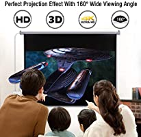 100/'/' 16:9 1.2 Gain Wall Ceiling Electric Motorized HD Projector Screen w//Remote