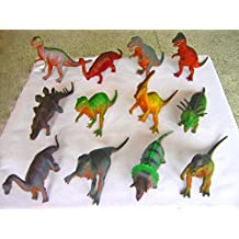 "10""-14"" JUMBO DINOSAURS SET (12 PIECES) World Of Imagination - Plastic Dinosaur Figurine Toy - Boys & Girls Children Child Kids Stocking filler, Christmas Gift,Jumbo Dinosaurs"