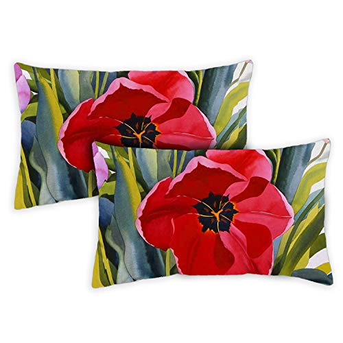 Toland Home Garden 731219 Tulip Garden 12x 19 Inch Outdoor Pillow with Insert 2-Pack