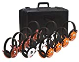 Califone 2810-12 Listening First Animal Headphones with Storage Case, Set of 12