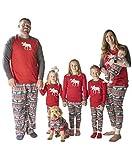 Moose Fair Isle Dog Flapjack Onsie Sweater by LazyOne | Adult Kid Infant Dog Family Matching Pajamas (Medium) For Sale
