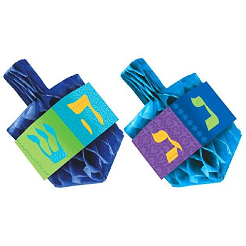 Hanukkah Honeycomb Paper Dreidel Centerpiece Set, 2 Ct. | Party Decoration -