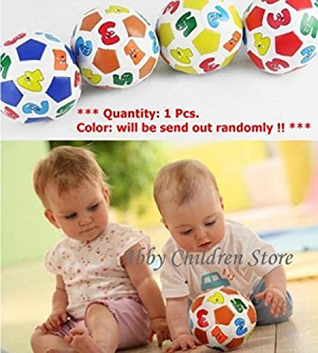 Colourful Children Football Soccer With Digital and Rattle Outdoor Toy Ball
