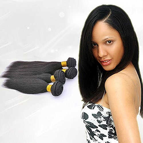 Yaki Wave Human Hair Weft Weave 16-22 inch Color 2/4 Straight Human Hair Extension