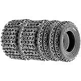 SunF Knobby XC MX ATV Tires 21x6-10 & 20x11-9 6 PR A035 (Full set of 4, Front & Rear)