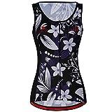 zm Summer Vest Cycling Jersey Sleeveless Black Roses Women Wear Cycling Vest
