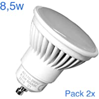 Pack 2x GU10 LED 8,5w Potentisima. Color Blanco