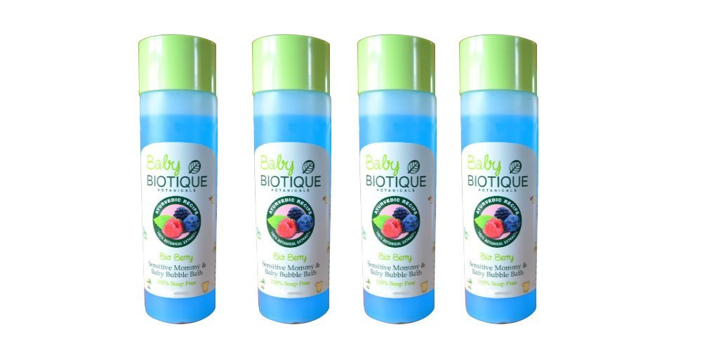 Baby Biotique Bio Berry Sensitive Mommy & Baby Bubble Bath - 100% Soap Free (4 x 190ml) by Biotique