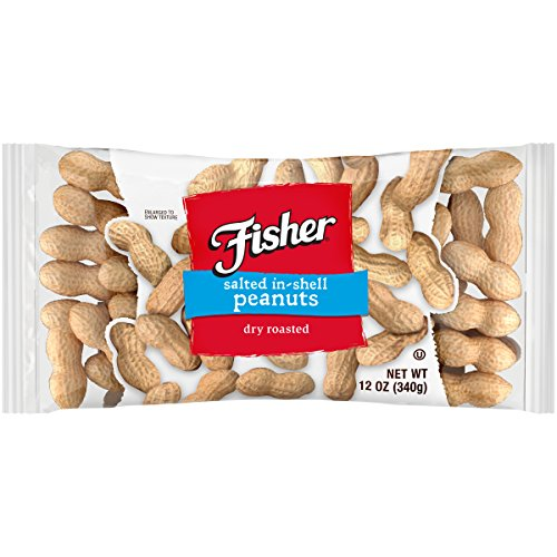 FISHER Snack In Shell Peanuts Singles, 12 oz (Pack of 12)