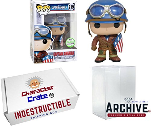 Funko Pop! Marvel Captain America World War 2, Emerald City Comic Con Spring Convention Exclusive, Concierge Collectors Bundle Vinyl (City Of Logan)