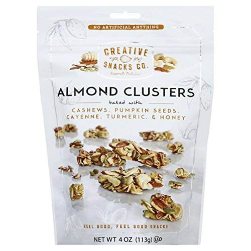 Creative Snacks, Almond Clusters, Cashews & SPICE w/ Pumpkin Seeds, Cayenne, Turmeric, & Honey, 4 oz, Pack of 6 by Creative Snacks