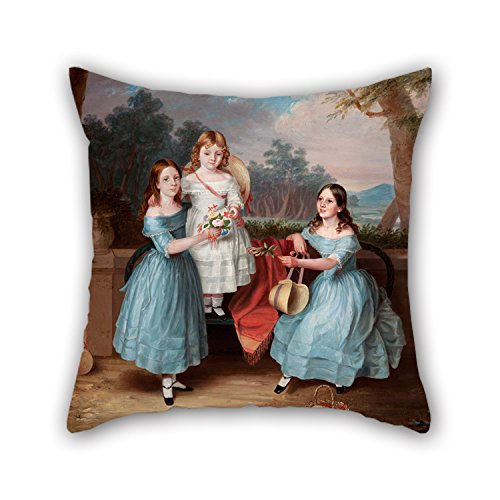 Artistdecor Oil Painting Martha Berkeley - Georgina, Emily And Augusta Rose Christmas Pillow Covers 20 X 20 Inches / 50 By 50 Cm For Saloon Play Room Indoor Kitchen Relatives ()