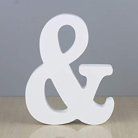 26 Wooden Wood Letter Alphabet Word Free Standing Wedding Party Home Decor SL