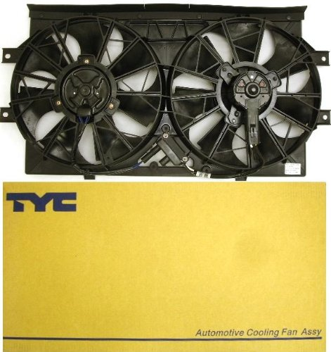 TYC 620720 Ford Focus Replacement Radiator/Condenser Cooling Fan Assembly - Ford Focus Radiator Fan