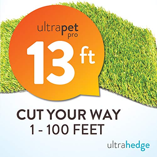 1014 Rug - UltraHedge New 13' Roll Wholesale Custom Cut 13Ft x 78Ft Artificial Grass for Pet Dog Potty Outdoor or Indoor Green Faux Fake Grass Decor | 1014 SqFt | 1.13