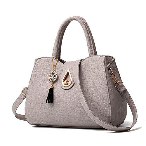 Style Bandoulière Grey Main Fourre Luxe Sac tout Womens à à Sac élégant YUHEQI 7nxAXwq4BS