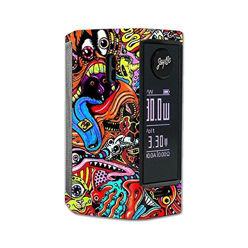MightySkins Skin Compatible with Wismec Reuleaux RX Mini - Acid Trippy | Protective, Durable, and Unique Vinyl Decal wrap Cover | Easy to Apply, Remove, and Change Styles | Made in The USA
