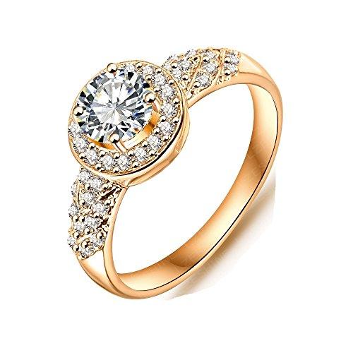 The New 18k Diamond Ring Wedding Rings Cheap Engagement Rings 0006 (Golden, us 6) ()