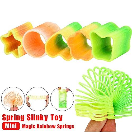 Magicswizz brand Amazing toy Mini Magic Rainbow Springs Circles Slinky Kill Time Rainbow Spring Slinky - Don Kill The Puppy T