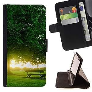 For LG G3 Case , Naturaleza Hermosa Forrest Verde 167- la tarjeta de Crédito Slots PU Funda de cuero Monedero caso cubierta de piel