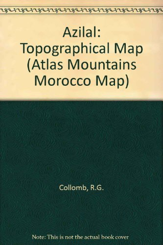 Azilal: Topographical Map (Atlas Mountains Morocco Map)