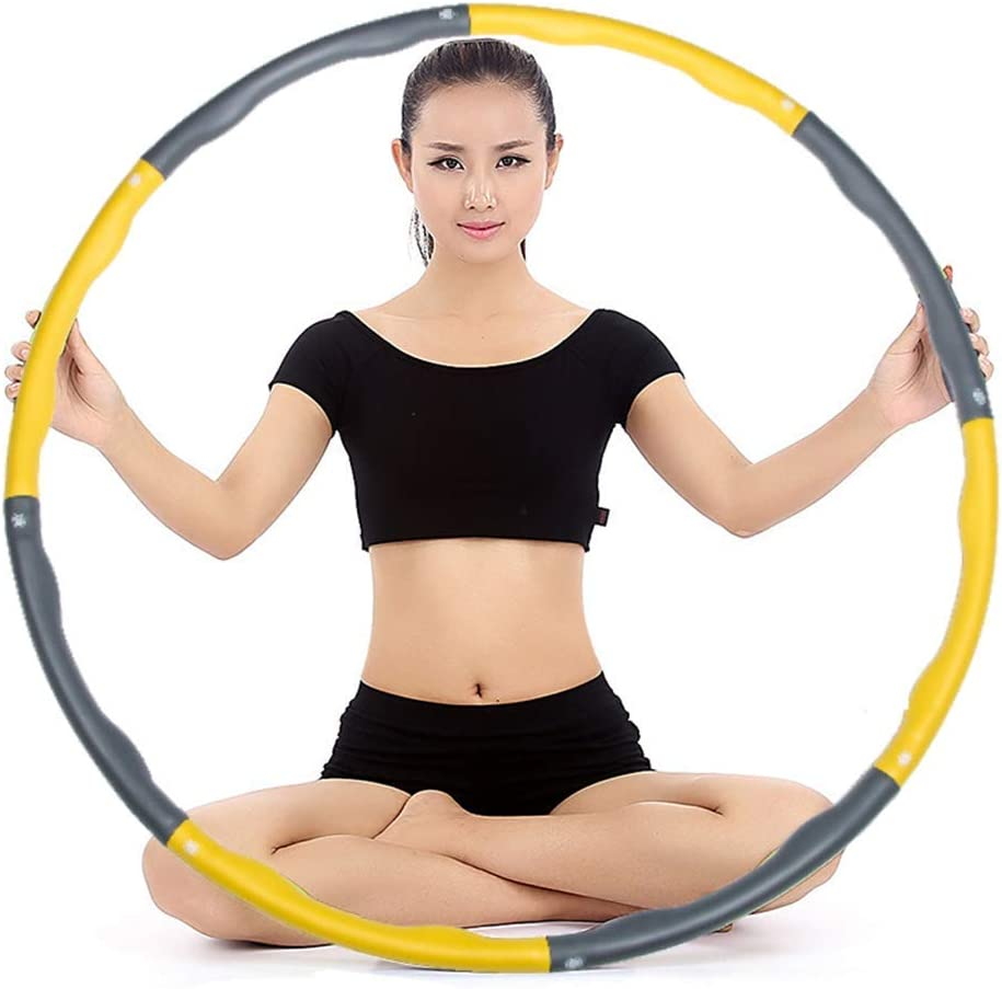 Apto para Todo Tipo De Personas. Extra/íble Masaje Hula Hoop Hula Hoop De Pl/ástico Multifuncional para Que La Cintura Delgada De Las Mujeres Pierda Peso Y Caderas