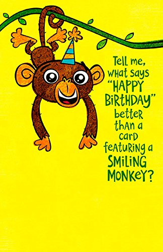 Amazon Cute Happy Smiling Monkey Humour Birthday Card