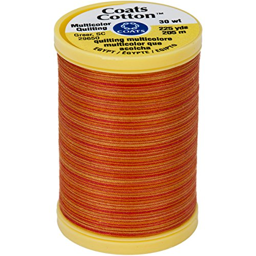 - Coats S972-0838 Cotton Machine Canyon Sunset Quilting Thread, 225 yd, Multicolor