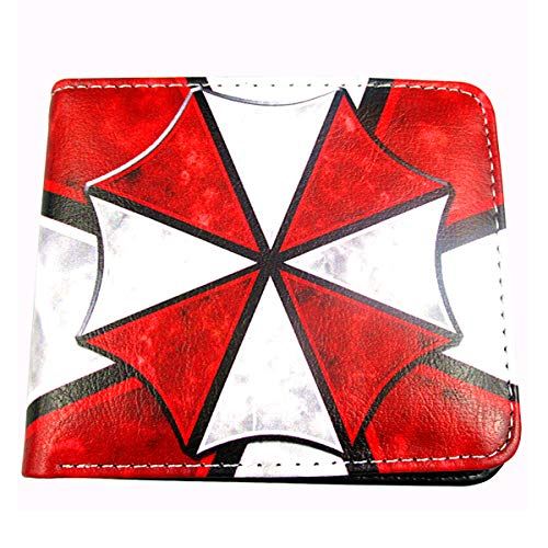 Resident Evil Umbrella Corporation Logo PU Wallet Folding Short Purse for Women Men(style A)