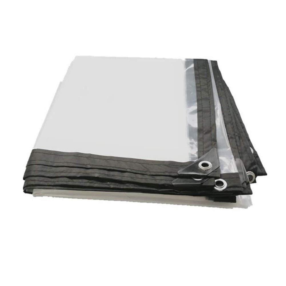Clear 3x4M Wangcfsb Tissu Imperméable Imperméable Imperméable Plein Transparent épais PVC épais Verre Souple Anti-vieillisseHommest Pare-Brise Balcon (Couleur   Clear, Taille   3x3m)